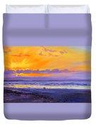 Sunset On Enniscrone Beach County Sligo Duvet Cover