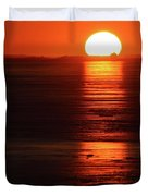 Sunset On February 26-2018 Over Barrie  Duvet Cover