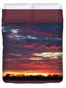 Sunset On Fire Duvet Cover