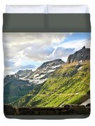Sunset On Going To The Sun Road Duvet Cover