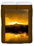 Sunset On Golden Ponds Duvet Cover