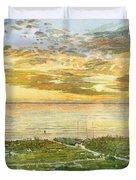 Sunset On Hobie Cat Beach, Siesta Key, Access 8 Duvet Cover