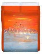 Sunset On Ice Duvet Cover