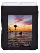 Sunset On Lake Dora At Mount Dora Florida Duvet Cover