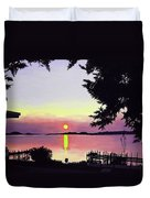 Sunset On Lake Dora Duvet Cover