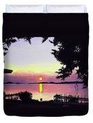 Sunset On Lake Dora Duvet Cover