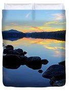 Sunset On Lake Harris 2 Duvet Cover