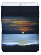 Sunset On Lake Michigan Duvet Cover