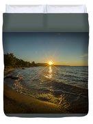 Sunset On Lake Superior Duvet Cover