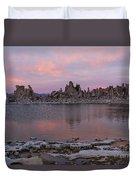Sunset On Mono Lake Duvet Cover