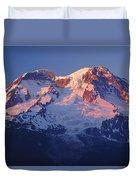 1m4876-sunset On Mt. Rainier  Duvet Cover