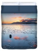 Sunset On New Year's Day Tyrella Beach Duvet Cover