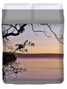Sunset On Orcas Duvet Cover