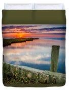Sunset On Pamlico Sound Duvet Cover