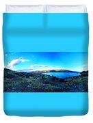 Sunset On Skaha Lake Duvet Cover