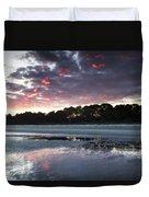 Sunset On South Forest Duvet Cover