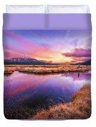 Sunset On Sparks Marsh Duvet Cover