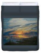 Sunset On St. Andrew Duvet Cover