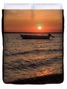 Sunset On The Bay Lavallette New Jersey  Duvet Cover
