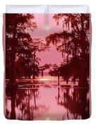 Sunset On The Bayou Atchafalaya Basin Louisiana Duvet Cover