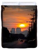 Sunset On The City Duvet Cover