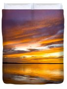 Sunset On The Harbor Duvet Cover