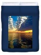 Sunset On The Hudson 03 New York Duvet Cover