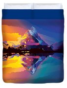 Sunset On The Mountains Duvet Cover