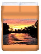 Sunset On The Murray River Duvet Cover