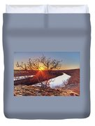Sunset On The Osage River Duvet Cover