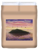 Sunset On The Pacific Duvet Cover