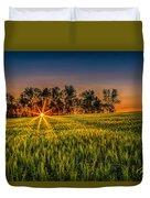 Sunset On The Prairie Duvet Cover