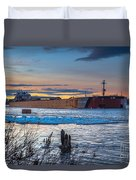Sunset On The Presque Isle 7824 Duvet Cover