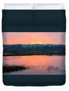 Sunset On The Refuge Duvet Cover