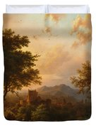 Sunset On The Rhine Duvet Cover