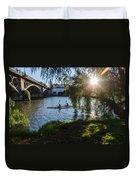 Sunset On The River - Seville  Duvet Cover