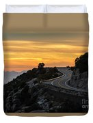 Sunset On The Road Duvet Cover