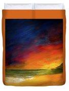 Sunset On The Shore Duvet Cover