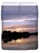Sunset On The Snake Duvet Cover