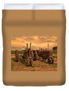 Sunset On The Tractors Duvet Cover