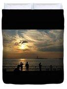 Sunset On The Upper Bay Duvet Cover
