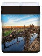 Sunset On The Vine Duvet Cover