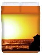 Sunset On Wall Beach Duvet Cover