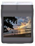 Sunset Over Ao Nang Beach Thailand Duvet Cover
