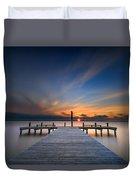 Sunset Over Barnegat Bay Duvet Cover