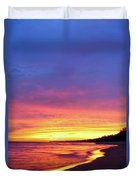 Sunset Over Beach Duvet Cover