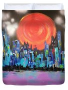 Sunset Over Capital Square Duvet Cover