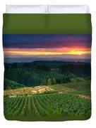 Sunset Over Central Oregon 4 Duvet Cover