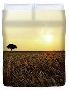 Sunset Over Cornfield Duvet Cover