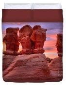 Sunset Over Devils Garden Duvet Cover